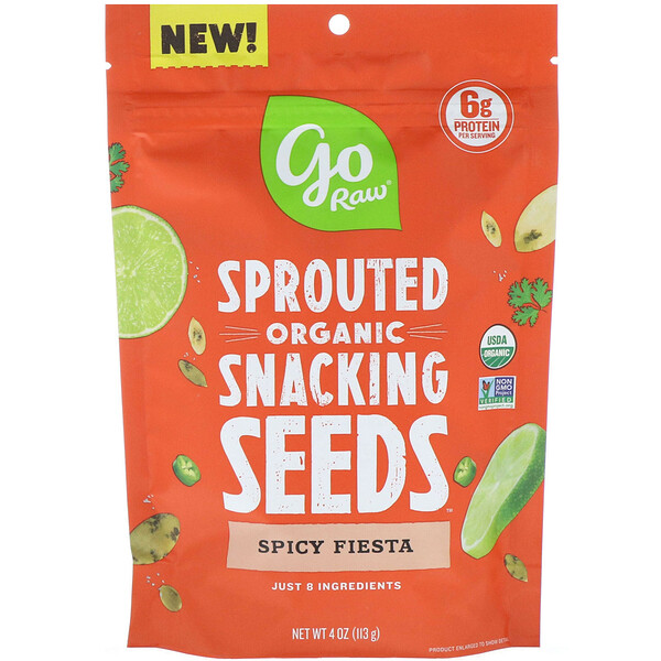Organic, Sprouted Snacking Seeds, Spicy Fiesta, 4 oz (113 g)