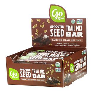 Go Raw, Sprouted Seed Trail Mix Bar, Dark Chocolate Sea Salt, 12 Bars, 1.2 oz (34 g) Each
