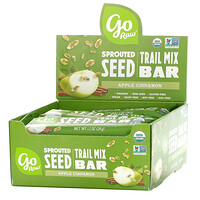 Go Raw, Sprouted Seed Trail Mix Bar, Apple Cinnamon,  12 Bars, 1.2 oz(34 g) Each