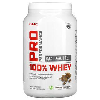 GNC, Pro Performance، 100% مصل اللبن، شيكولاتة طبيعية، 2.11 رطل (955 جم)