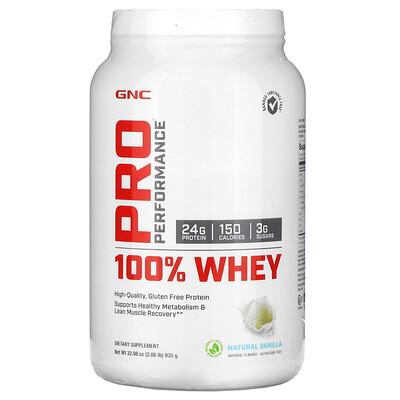 GNC Pro Performance Pro Performance 100% Whey, Natural Vanilla, 2.06 lb (935 g)