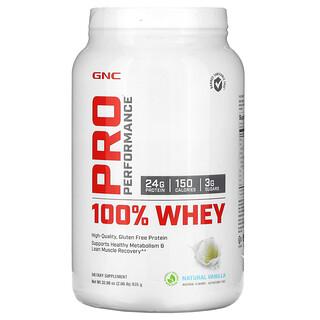 GNC, Pro Performance, 100% Whey, Natural Vanilla, 2.06 lb (935 g)