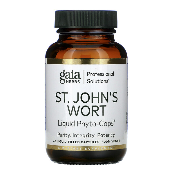 Gaia Herbs Professional Solutions, St. John's Wort, 60 Liquid-Filled Capsules