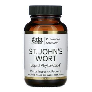 Gaia Herbs Professional Solutions, St. John's Wort, 60 Liquid-Filled Capsules отзывы