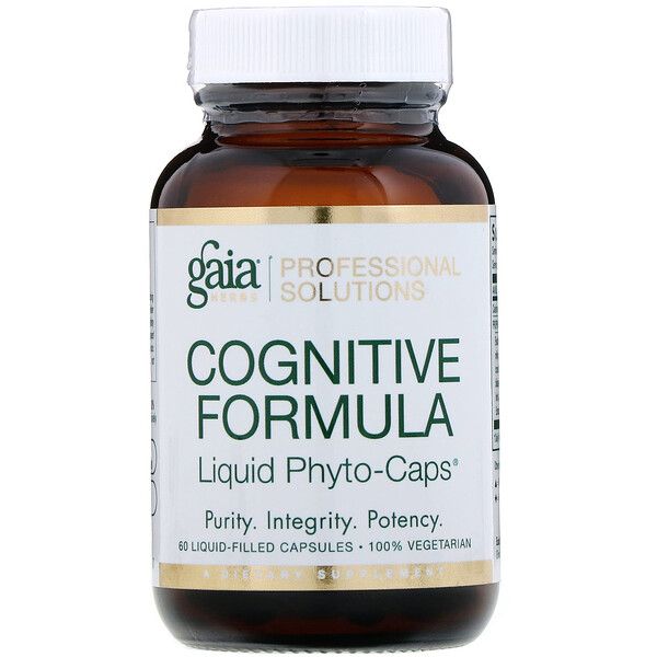 Gaia Herbs Professional Solutions, Cognitive Formula, 60 Liquid-Filled Capsules (Discontinued Item)