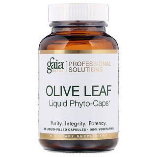 Gaia Herbs Professional Solutions, Лист оливкового дерева, 60капсул, заполненных жидкостью