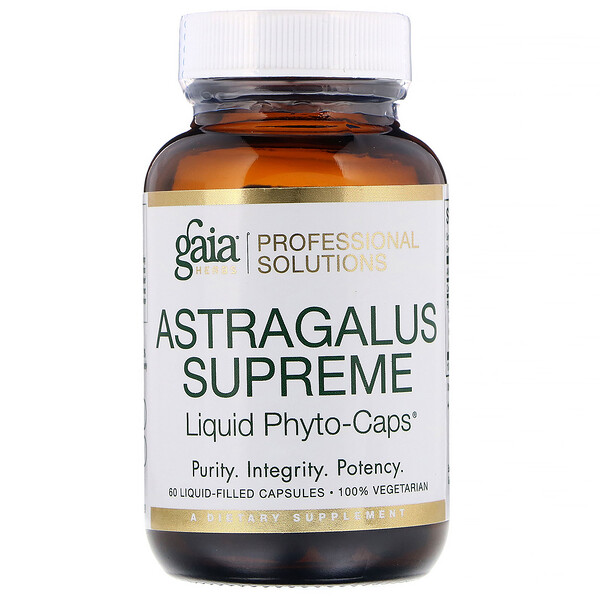 Gaia Herbs Professional Solutions, Astragalus Supreme, 60 Liquid-Filled Capsules (Discontinued Item)