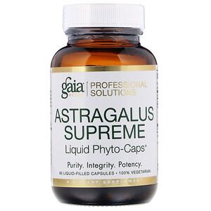 Gaia Herbs Professional Solutions, Astragalus Supreme, 60 Liquid-Filled Capsules