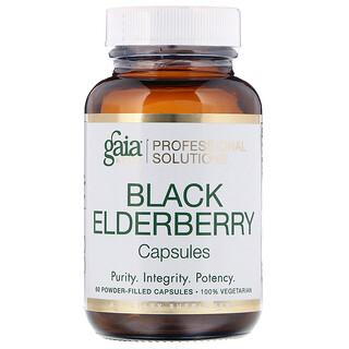 Gaia Herbs Professional Solutions, Black Elderberry, 60 Powder-Filled Capsules