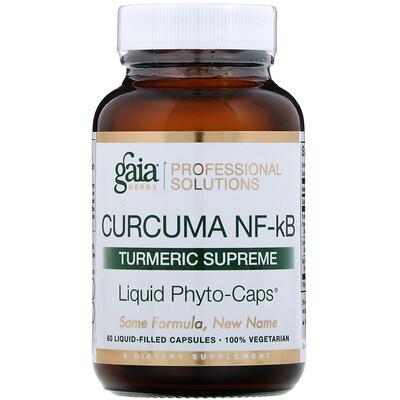 Купить Gaia Herbs Professional Solutions Куркума NF-kB Turmeric Supreme, 60капсул, заполненных жидкостью
