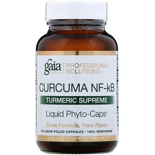 Gaia Herbs Professional Solutions, Куркума NF-kB Turmeric Supreme, 60капсул, заполненных жидкостью