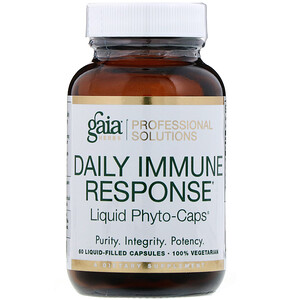 Gaia Herbs Professional Solutions, Daily Immune Response, 60 Liquid-Filled Capsules