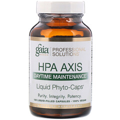 Gaia Herbs Professional Solutions, HPA Axis,日間維護,120 粒充液膠囊