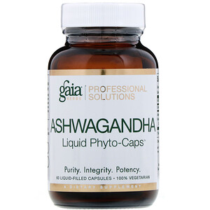 Gaia Herbs Professional Solutions, Ashwagandha, 60 Liquid-Filled Capsules