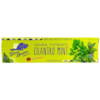 Green Beaver, Natural Toothpaste, Cilantro Mint, 2.5 fl oz (75 ml)