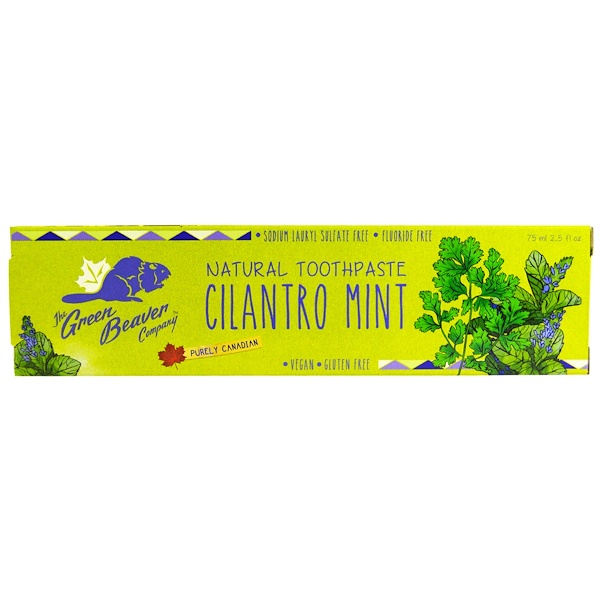 The Green Beaver, Natural Toothpaste, Cilantro Mint, 2.5 fl oz (75 ml) (Discontinued Item)