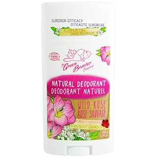 Green Beaver, Natural Deodorant, Wild Rose, 1.76 oz (50 g)