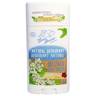 Green Beaver, Natural Deodorant, Unscented, 1.76 oz (50 g)