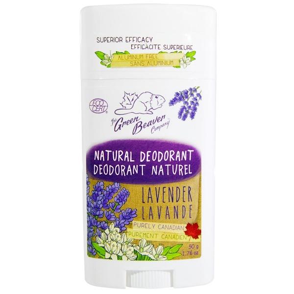 The Green Beaver, Natural Deodorant, Lavender, 1.76 oz (50 g) (Discontinued Item)