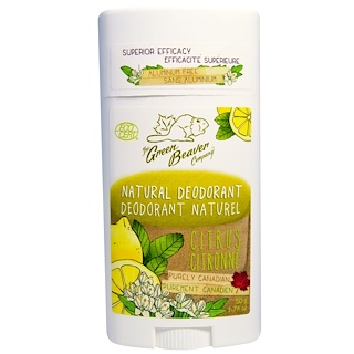 Green Beaver, Natural Deodorant, Citrus, 1.76 oz (50 g)