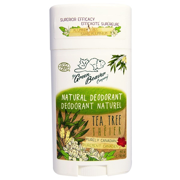 The Green Beaver, Natural Deodorant, Tea Tree, 1.76 oz (50 g) (Discontinued Item)