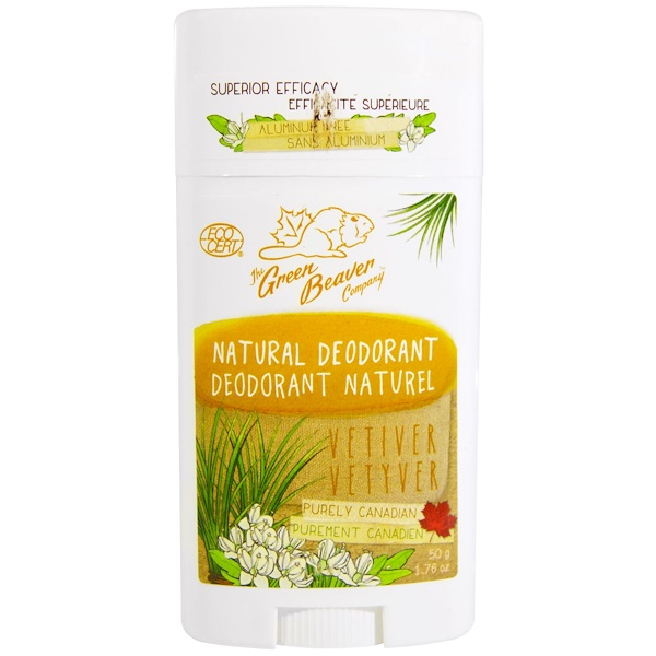 The Green Beaver, Natural Deodorant, Vetiver, 1.76 oz (50 g) (Discontinued Item)