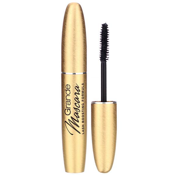 Grande Cosmetics, Grande Mascara, Conditioning Peptide Mascara, Rich Black, .021 oz (6 g) (Discontinued Item)