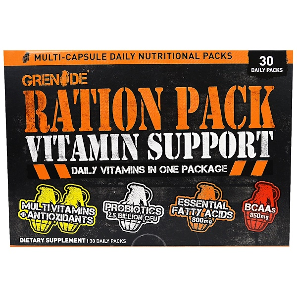 Grenade, Ration Pack Vitamin Support, 30 Daily Packs (Discontinued Item)
