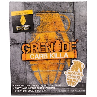 Grenade, Carb Killa Bars, Caramel Chaos, 12 Bars, 2.12 oz (60 g) Each