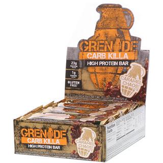 Grenade, Carb Killa Bars, Caramel Chaos, 12 Bars, 2.12 oz (60 g) Each