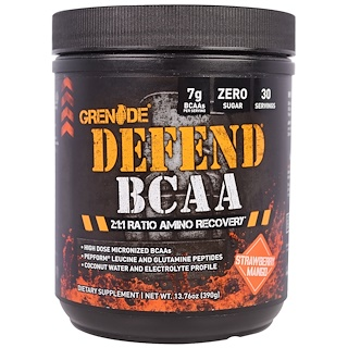 Grenade, Defend BCAA, Strawberry Mango, 13.76 oz (390 g)