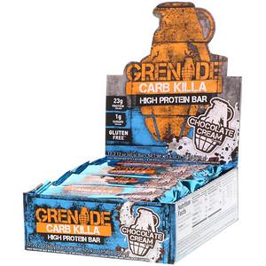 Гринэйд, Carb Killa, High Protein Bar, Chocolate Cream, 12 Bars, 2.12 oz (60 g) Each отзывы покупателей