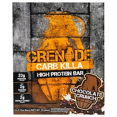 Grenade, Carb Killa Bars, Chocolate Crunch, 12 Bars, 2.12 oz (60 g) Each