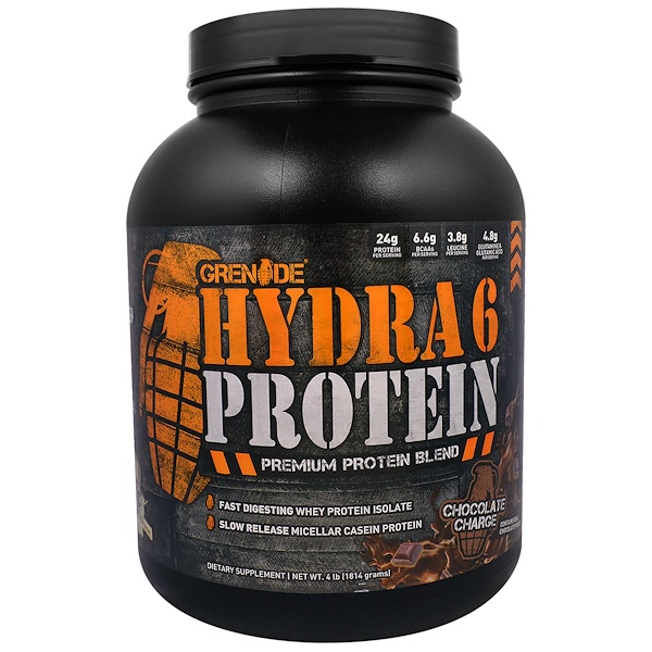 Grenade, Hydra 6 Protein, Premium Protein Blend, Chocolate Charge, 4 lb (1814 g) (Discontinued Item)