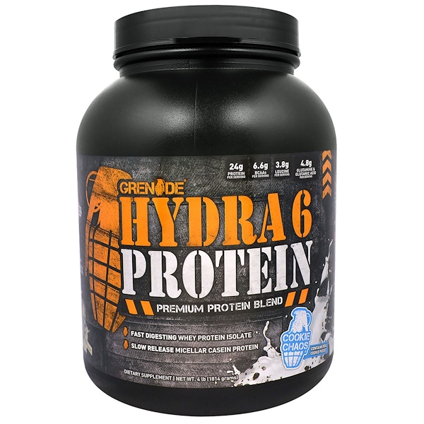 Grenade, Hydra 6 Protein, Premium Protein Blend, Cookie Chaos,  4 lb (1814 g) (Discontinued Item)