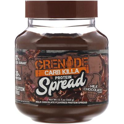 Grenade Carb Killa, протеиновый спред, молочный шоколад, 12, 7 унц. (360 г)  - купить со скидкой