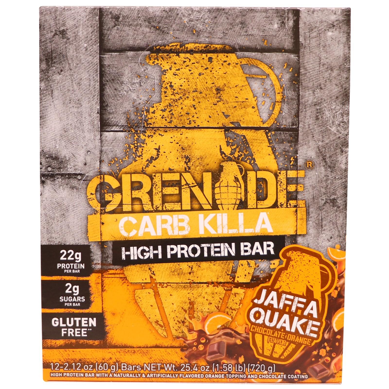 Grenade, High Protein Bar, Chocolate Orange, 12 Bars, 2.12 oz (60 g) Each