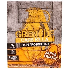 Grenade, Carb Killa, High Protein Bar, Jaffa Quake Chocolate Orange, 12 Bars, 2.12 oz (60 g) Each