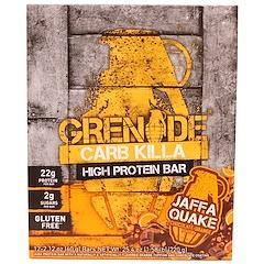 Grenade, Carb Killa, High Protein Bar, Jaffa Quake Chocolate Orange, 12 Bars, 2.12 oz (60 g) Each
