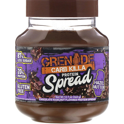 Grenade Carb Killa, Protein Spread, Chocolate Hazelnut Flavor, 12.7 oz (360 g)