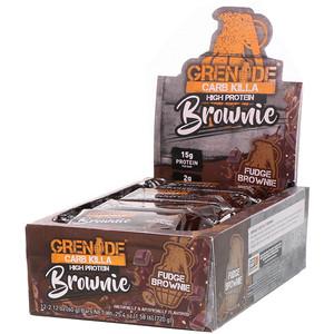 Гринэйд, Carb Killa, High Protein Brownie, Fudge Brownie, 12 Bars, 2.12 oz (60 g) Each отзывы