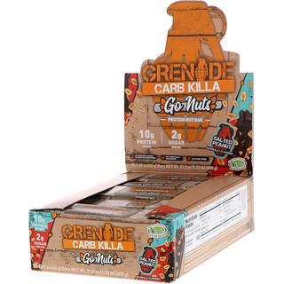 Grenade, Carb Killa, Go Nuts Protein Nut Bar, Salted Peanut, 15 Bars, 1.41 oz (40 g) Each