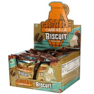 Grenade, Carb Killa, Biscuit, Salted Caramel, 12 Bars, 21.1 oz (600 g)'