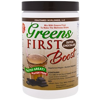 Greens First, Boost, Dutch Chocolate, 10.5 oz (300 g)