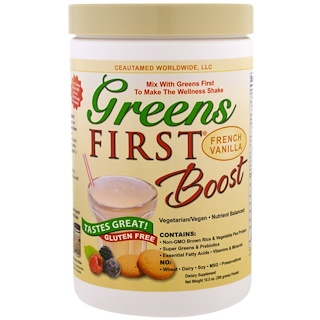 Greens First, Boost, French Vanilla Powder, 10.5 oz (300 g)