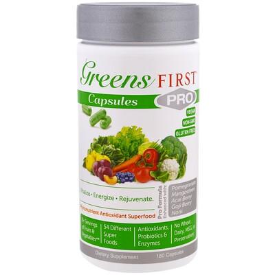 Greens First Суперпища с фитонутриентами и антиоксидантами PRO, 180 капсул  - Купить