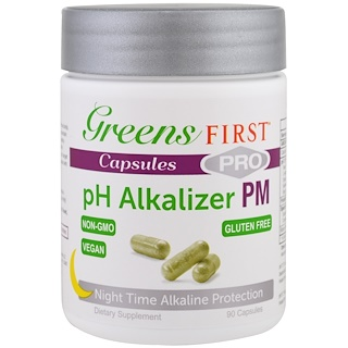 Greens First, Pro pH Alkalizer PM, 90 Capsules