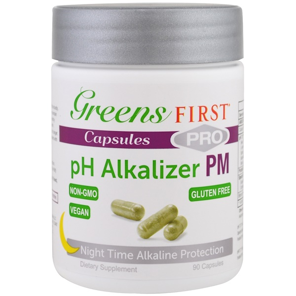 Greens First, подщелачивающий агент pH Pro PM, 90 капсул (Discontinued Item)