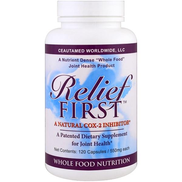 Greens First, Relief First,天然COX-2抑製劑,550毫克,120粒膠囊