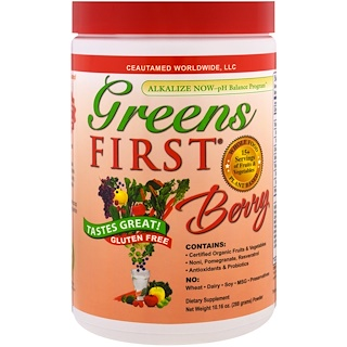 Greens First, Superfood Antioxidant Shake, Berry , 10.16 oz (288 g)